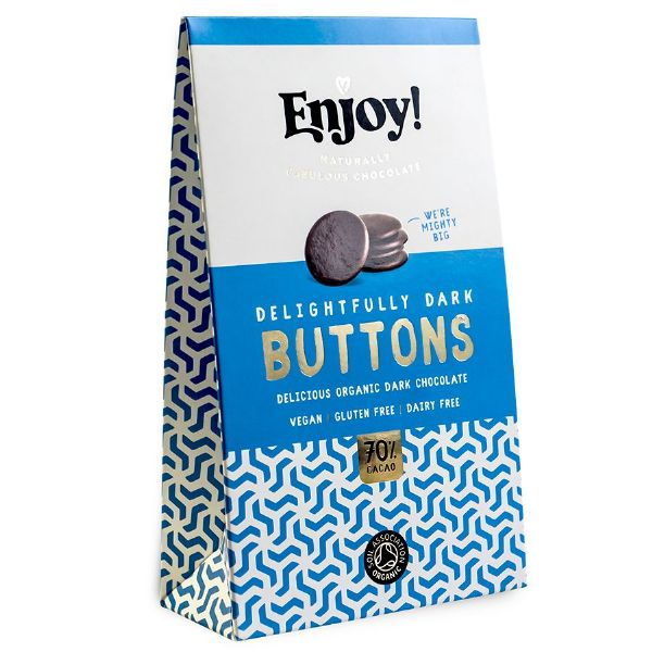 Enjoy! Delightfully Dark 70% Solid Buttons 96g